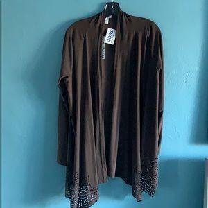 NWT! Belle Amie Brown Long Length Jacket